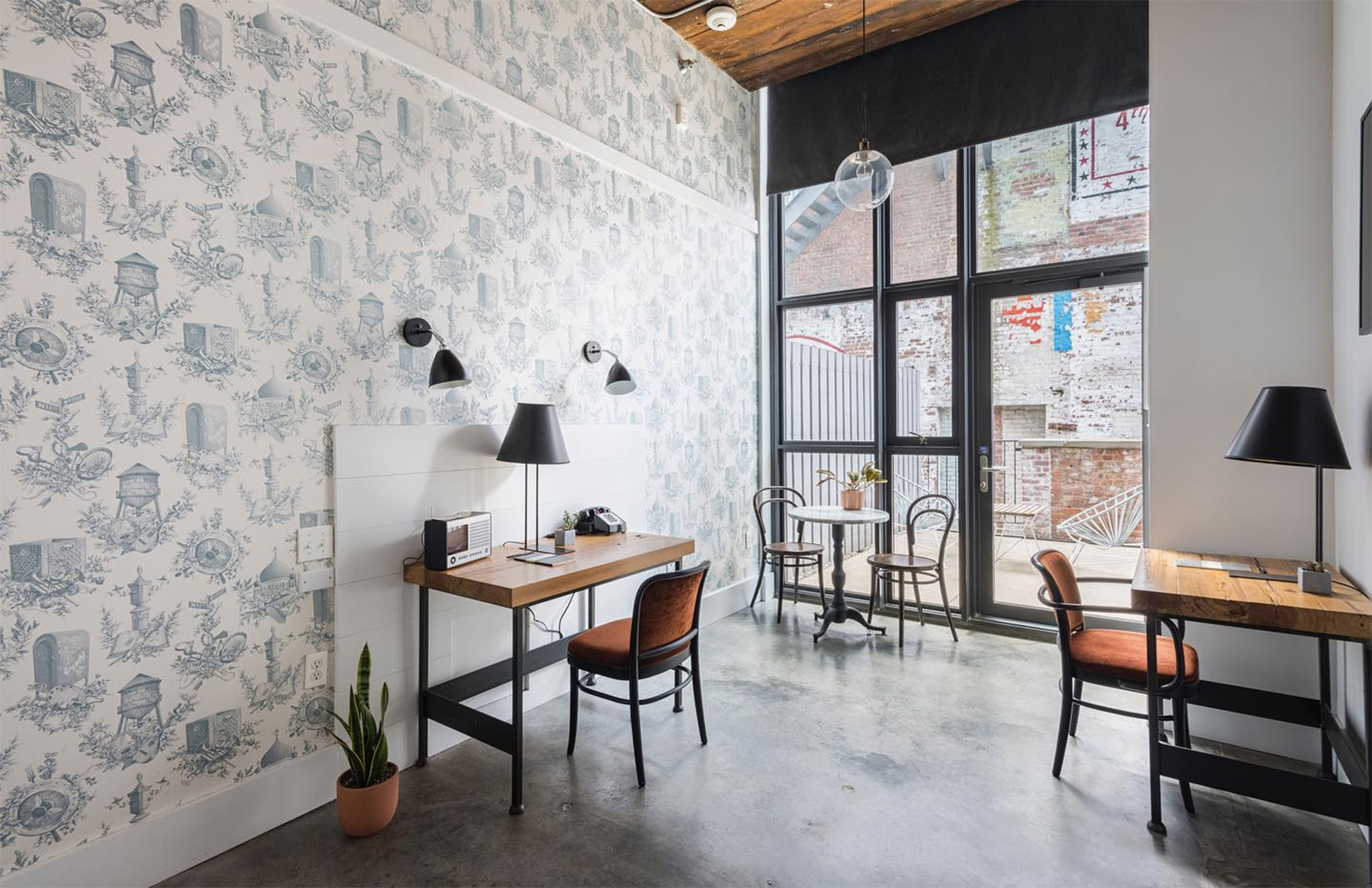 New Yorkers can now check into the office, as Brooklyn's Wythe Hotel converts one of its floors into private workspaces as it pivots to cope with pandemic life.