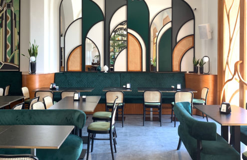 A box office is reborn as 'New Deco' restaurant La Biglietteria in Bari