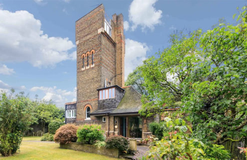 An architect's 1970s water tower home is for sale in London
