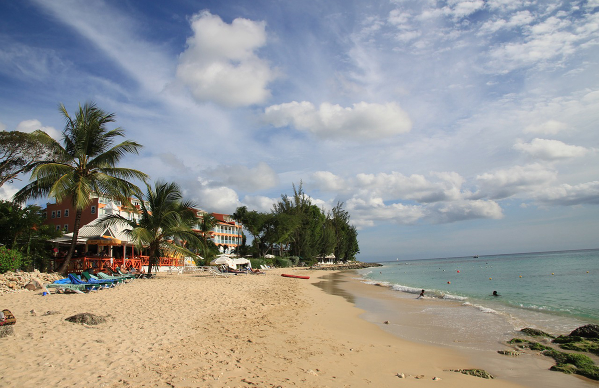 A beach resort in Barbados