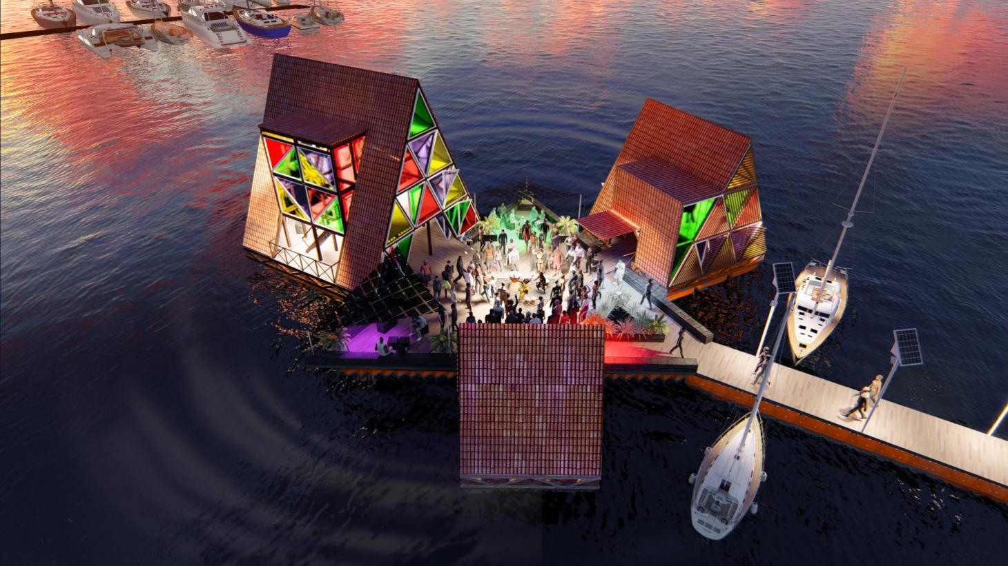 A floating music hub is anchored off the coast of Cape Verde