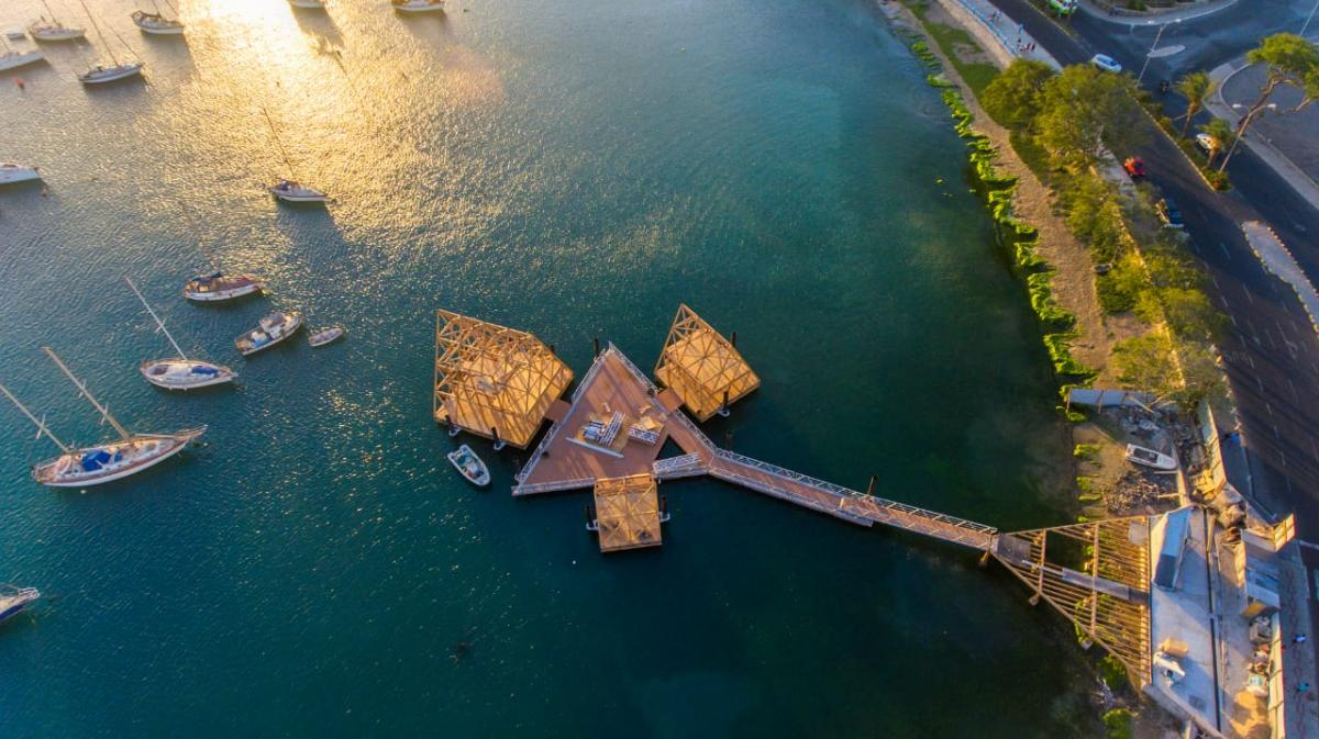 A floating music 'village' off the island of São Vicente in Cape Verde that will host music events and performances