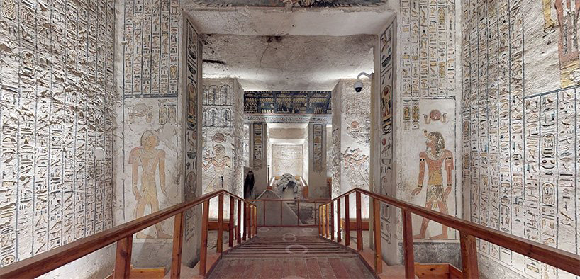 Inside Pharaoh Ramesses VI's tomb