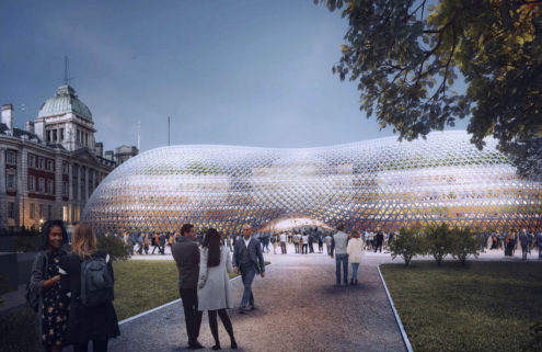 Norman Foster's temporary parliament is a modern take on the Crystal Palace