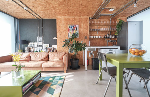 Converted water tank apartment is for sale in London