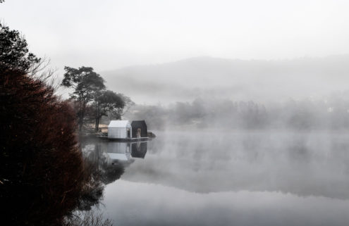 Tasmania's Floating Sauna is a lakeside spa for soaking up the views