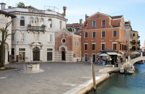 A converted chapel overlooking Venice's Grand Canal is for sale