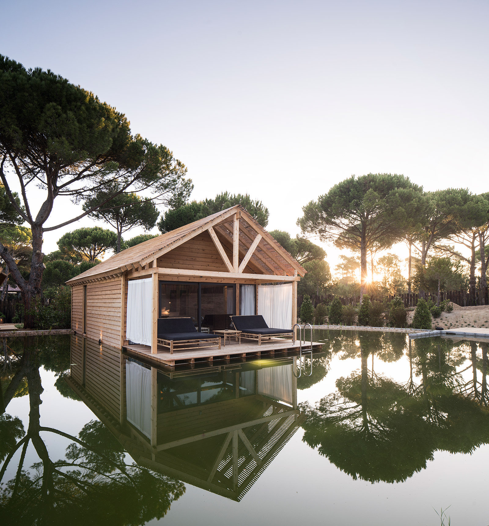 Sublime's Bio Pool Suites are independent villas, each with a terrace from which you can plunge into a private pool naturally cleaned by aquatic plants.