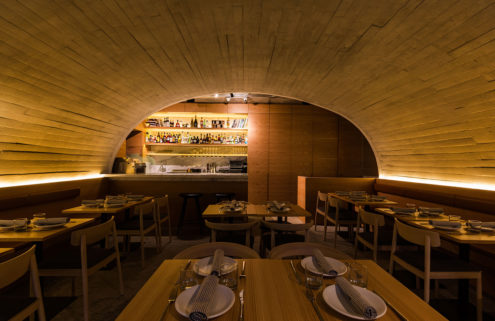 The concrete interiors of Mexico City restaurant Sartoria play with trattoria traditions