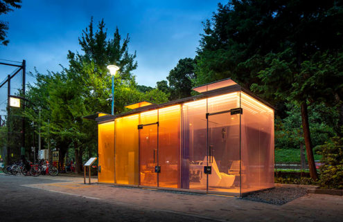 Shigeru Ban's Tokyo toilets take a radical approach to privacy