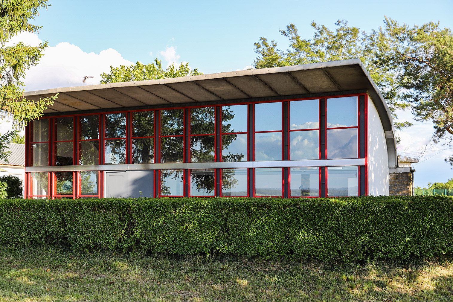 Stay in a former aerodrome clubhouse designed by Prouve and Le Corbusier