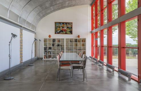 Stay in a former aerodrome clubhouse designed by Prouvé and Le Corbusier