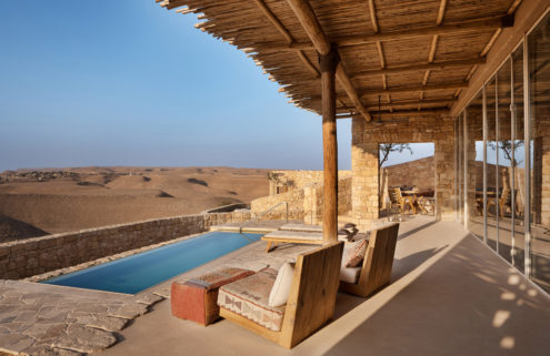Six Senses Shaharut is built into the sandy slopes of Israel's Negev Desert