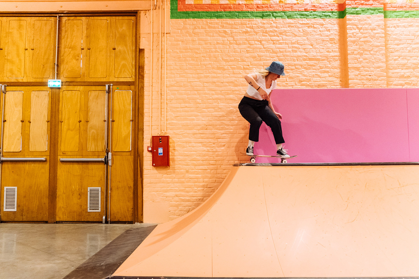 Yinka Ilori drenches Roubaix's skatepark in fluorescent paint - padstyle