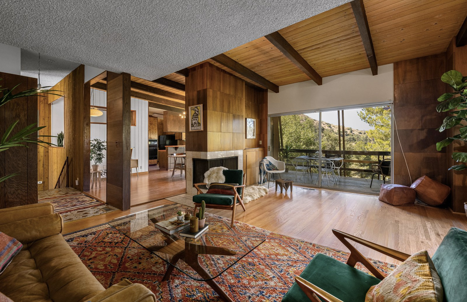 Gus Stamos' 1968 home in Glendale California is a timecapsule of midcentury modern design that has only been on the market twice