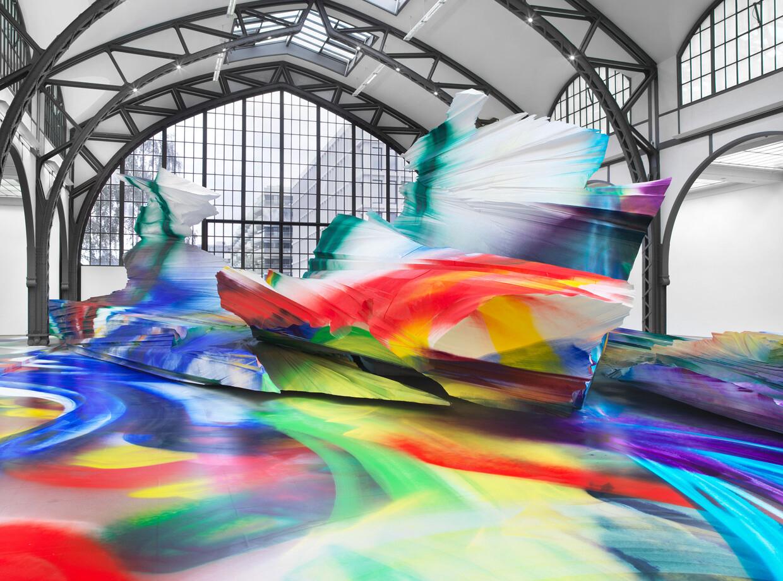 Katharina Grosse transforms Berlin's Hamburger Bahnhof into a kaleidoscopic world of colour