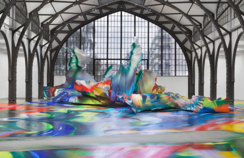 Katharina Grosse transforms Berlin's Hamburger Bahnhof into a kaleidoscopic world of colour