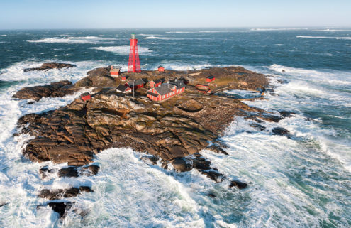 Pater Noster lighthouse is a remote destination hotel in Sweden