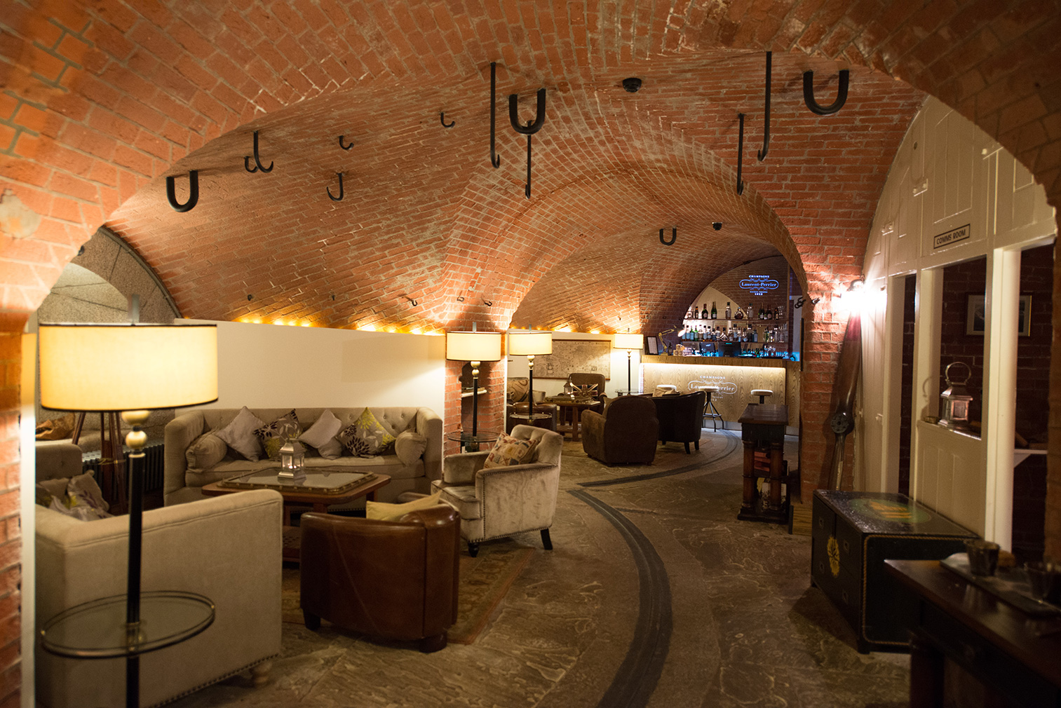 Inside Spitbank Fort, which currently operates as a remote hotel in the middle of the English Channel