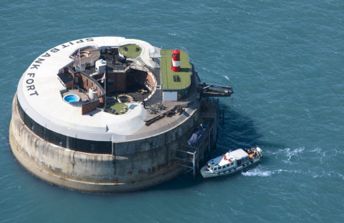 A trio of Napoleonic forts is for sale in the English Channel