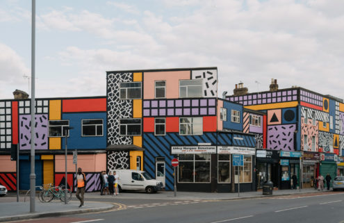 Camille Walala has given an East London high street a jazzy makeover