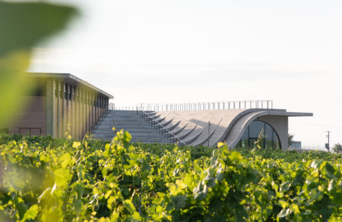 Lahofer winery offers a taste of brutalism among Dobšice's vineyards
