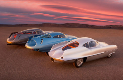 A trio of Alfa Romeo's space-age BAT concept cars are heading for auction