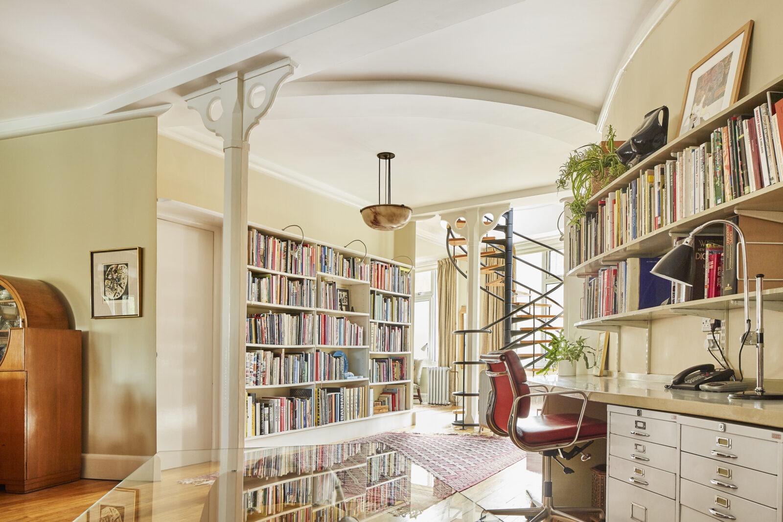 Inside the London Home on Charterhouse Square designed for British artist Allen Jones