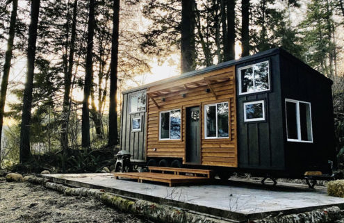 A 'Scandinese' tiny home is for sale in Portland