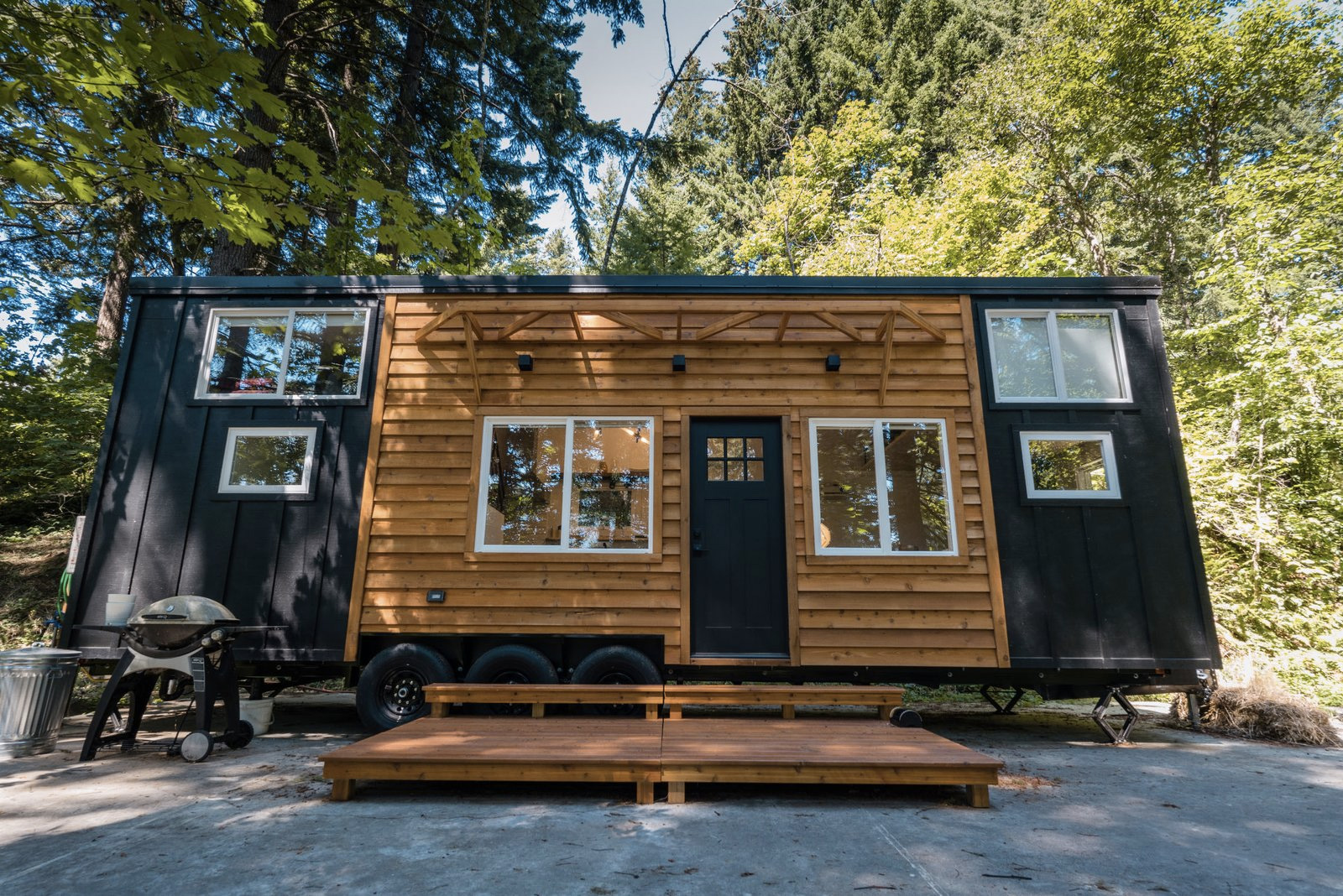 A 'Scandinese' tiny home trailer is for sale in Portland