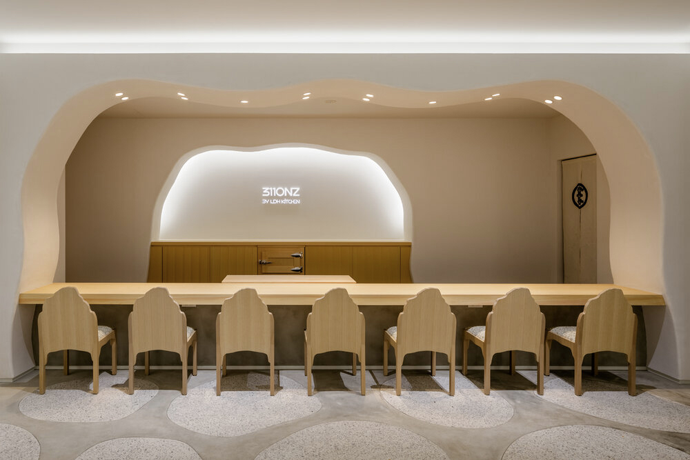 Snarkitecture's Tokyo art gallery turns into an omakase restaurant at night