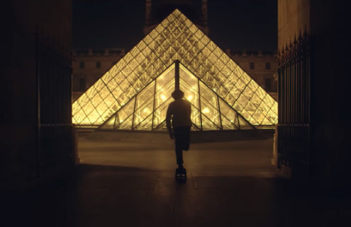 Skateboarding through the Louvre
