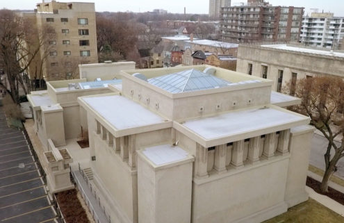 Weekend watch: Brad Pitt recounts the story of Unity Temple in new Frank Lloyd Wright film