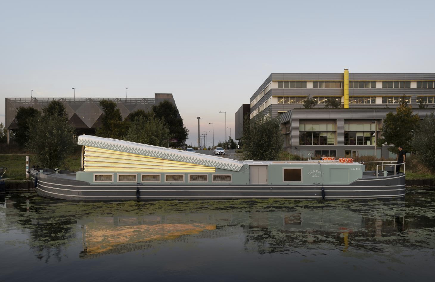 Genesis floating church in Hackney Wick is designed by A floating church has moored in East London's Hackney Wick
