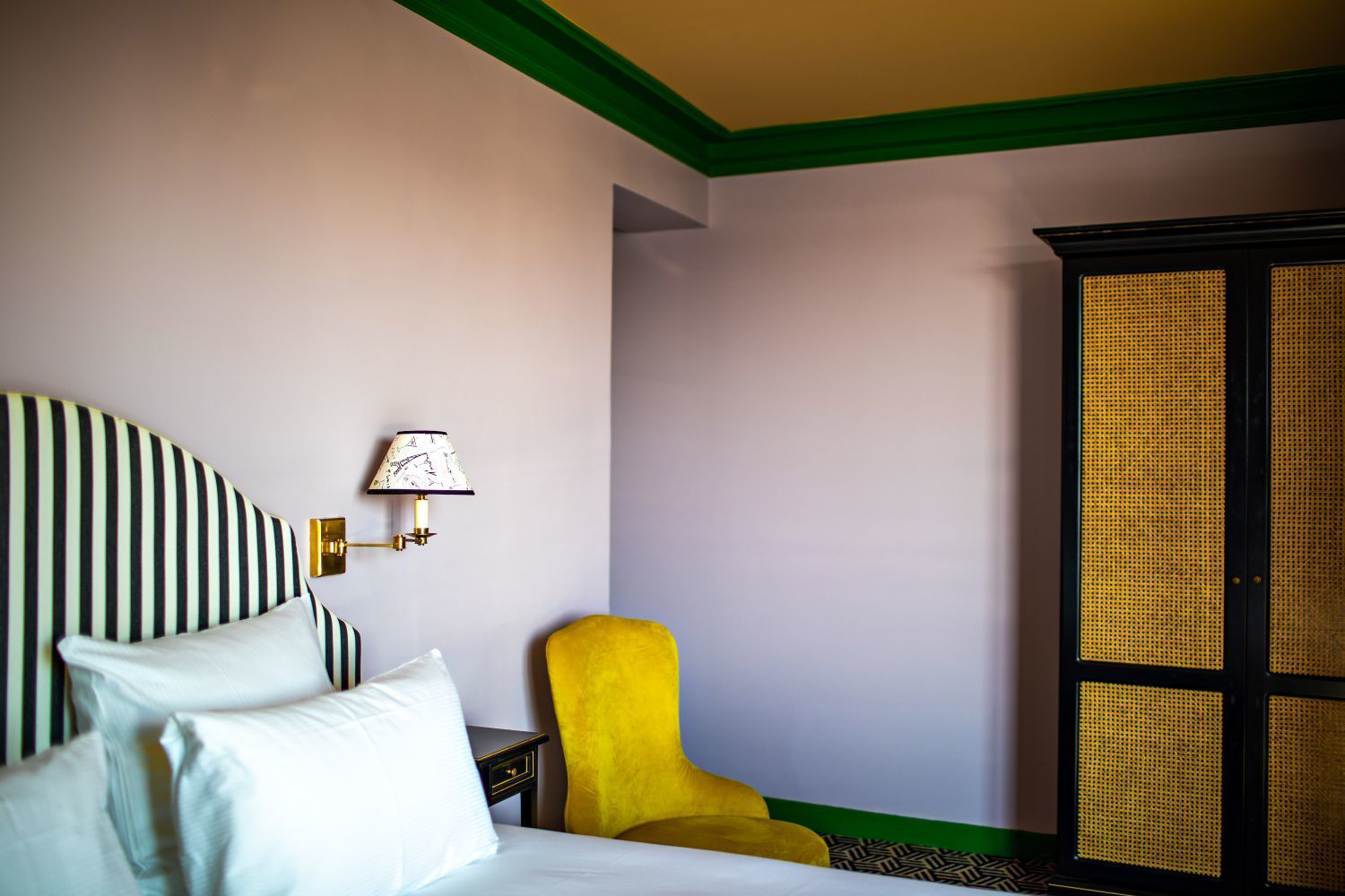 Pattern and colour clash at Paris's maximalist Hotel Les Deux Gares