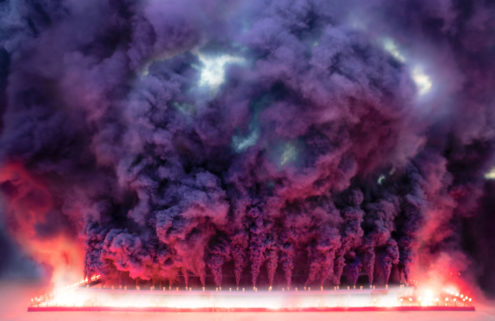 Judy Chicago's first virtual artwork is an AR smoke sculpture