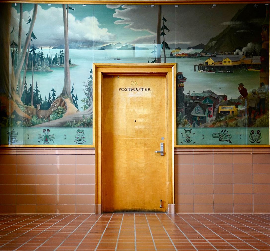 Inside the Postmaster's office in Alaska