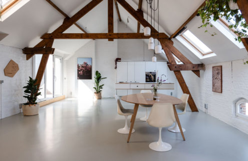 This minimalist Antwerp loft is a showroom you can sleep in