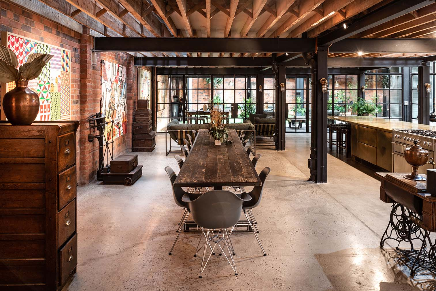 The Compound is an award-winning warehouse conversion in Birmingham's Jewellery Quarter home to a cinema, office space and set of apartments.