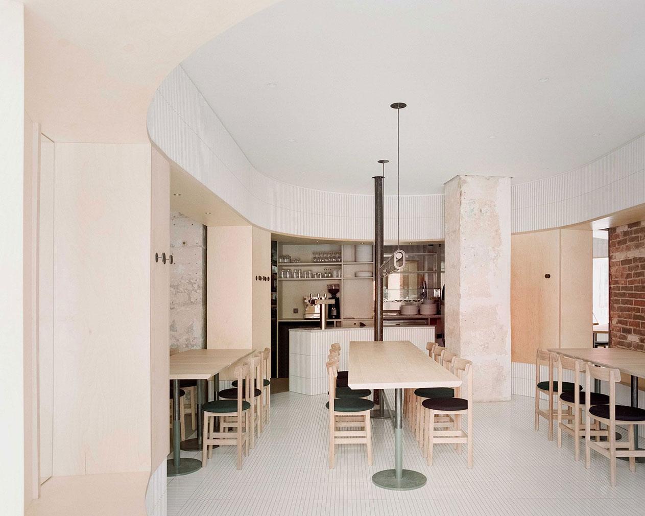 Neri&Hu designed the minimalist Papi restaurant in Paris