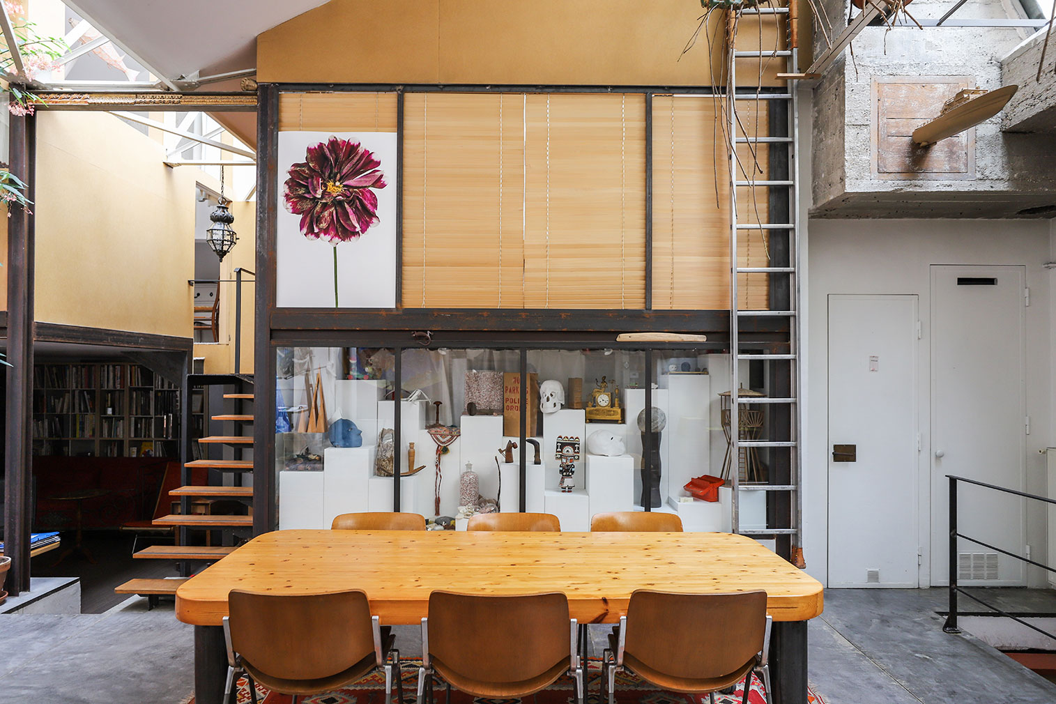 Converted foundry loft offers industrial living in Paris
