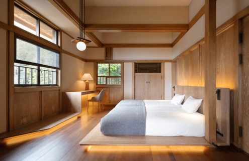 Hayama Kachitei Hotel inhabits a Prairie home by a Frank Lloyd Wright acolyte
