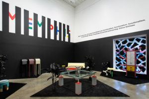 Installation view, Memphis Plastic Fields at MK Gallery. Photography: Rob Harris