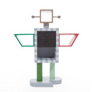 Ettore Sottsass robot book shelf