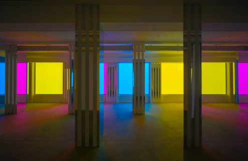 Daniel Buren and Philippe Parreno conjure neon spectres in their Paris show