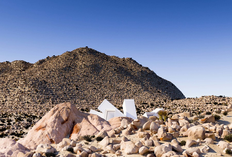 Starburst House by Whitaker Studio - A sci-fi concept home with an explosive 'starburst' floor plan is for sale in California's Joshua Tree