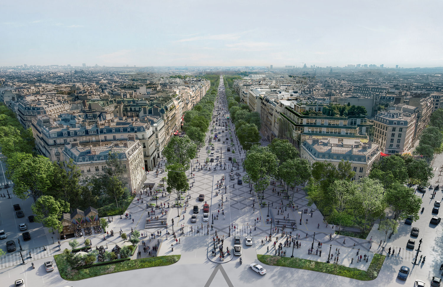 The Champs-Élysées is set to become a mile-long garden