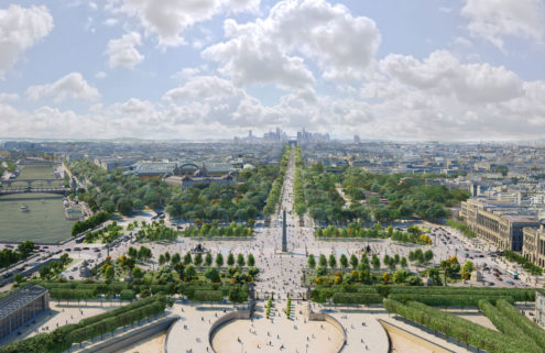 The Champs-Élysées will become a mile-long garden by 2030