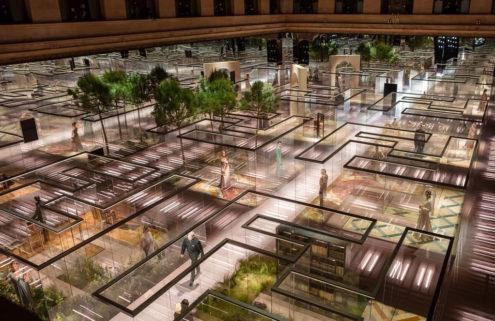 Fendi builds a glass maze for its Paris Couture show