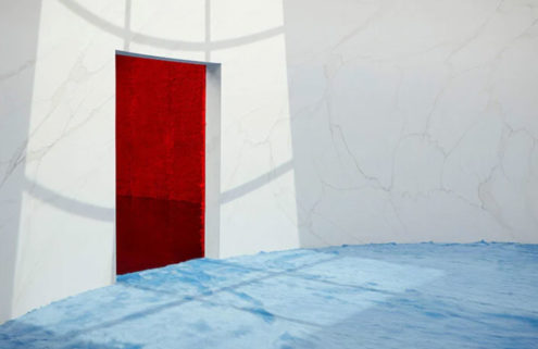Rem Koolhaas' Prada F/W 2021 menswear set is invitingly touchable